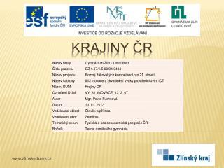 Krajiny ČR