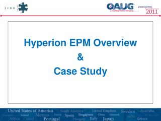 Hyperion EPM Overview &  Case Study