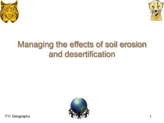 Managing the effects of soil erosion and desertification