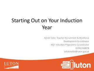 Starting Out on Your Induction Year