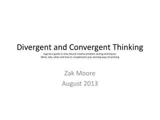 Zak Moore August 2013