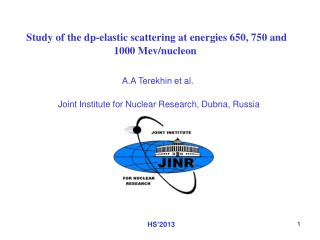 Study of the dp-elastic scattering at energies 650, 750 and 1000 Mev/nucleon