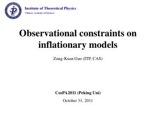 Observational constraints on inflationary models