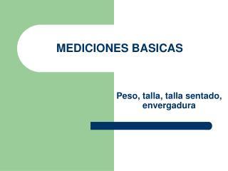 MEDICIONES BASICAS