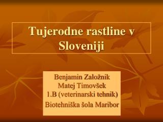 Tujerodne rastline v Sloveniji