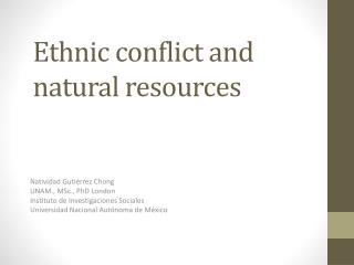Ethnic conflict  and natural  resources