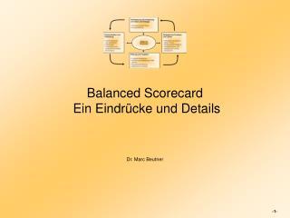 Balanced Scorecard  Ein Eindr�cke und Details