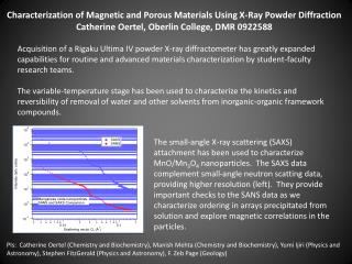 Characterization of Magnetic and Porous Materials Using X-Ray Powder Diffraction
