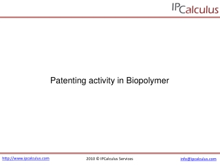 IPCalculus - Biopolymer Patenting Activity