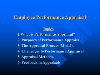 Employee Performance Appraisal