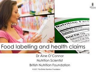 Dr  ine O Connor Nutrition Scientist British Nutrition Foundation