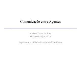 Comunicação entre Agentes