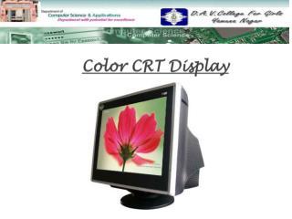 Color  CRT Display