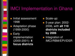 IMCI Implementation in Ghana