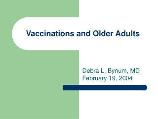 Standing Orders for    Inpatient Vaccination