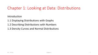 Chapter 1: Looking at Data: Distributions