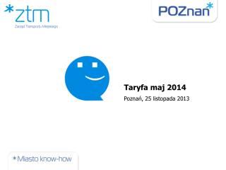 Taryfa maj 2014