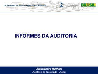 Alessandra Mathias Auditoria da Qualidade -  Audiq