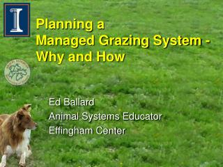 Planning a  Managed Grazing System -Why and How
