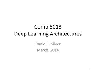 Comp 5013 Deep Learning Architectures