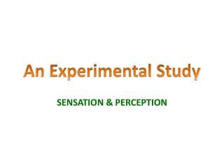 An Experimental Study