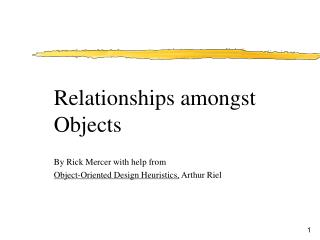 By Rick Mercer with help from Object-Oriented Design Heuristics,  Arthur Riel
