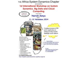 SOUTH AFRICA CHAPTER The 32st International Conference of the System Dynamics Society