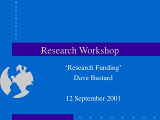 Research Workshop