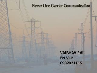Power Line Carrier Communication