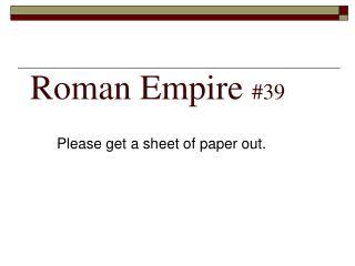 Roman Empire  #39