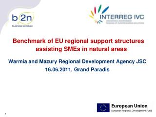 Benchmark of EU regional support structures assisting SMEs in natural areas