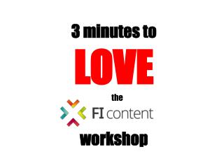 3 minutes to LOVE workshop