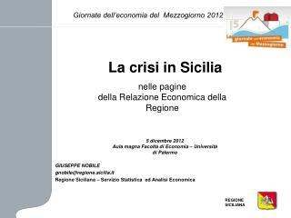 La crisi in Sicilia