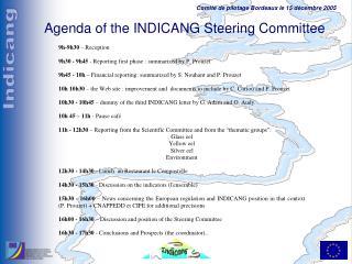 Agenda of the INDICANG Steering Committee