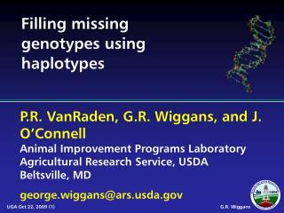 Filling missing genotypes using haplotypes