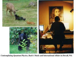 Contemplating Quantum Physics, Bach s Music and International Affairs in Duvall, WA