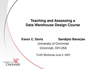 Teaching and Assessing a Data Warehouse Design Course
