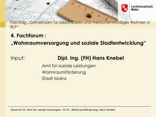 """Fachtag  """"Gemeinsam für bezahlbares und menschenwürdiges Wohnen in  RLP"""""""
