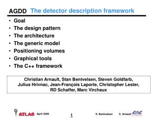 The detector description framework
