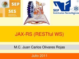 JAX-RS (RESTful WS)