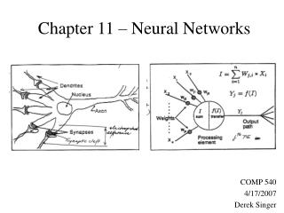 Chapter 11 � Neural Networks