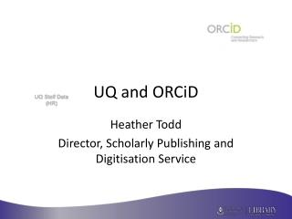 UQ and ORCiD