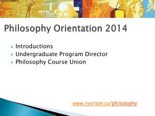 Philosophy Orientation 2014