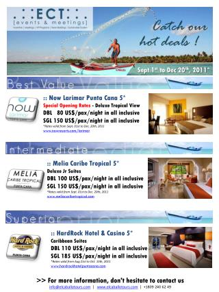 ::  Now Larimar  Punta Cana 5* Special Opening Rates -  Deluxe  Tropical View