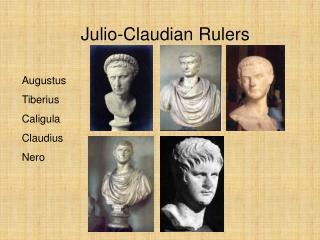 Julio-Claudian Rulers