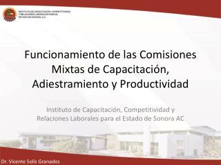 Funcionamiento de las Comisiones Mixtas de Capacitación, Adiestramiento y Productividad