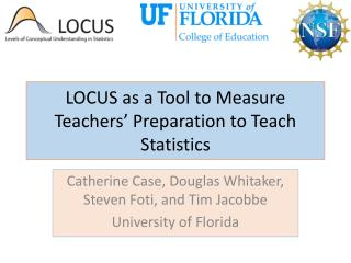 LOCUS as a Tool to Measure Teachers' Preparation to Teach Statistics