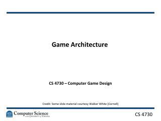 Game Architecture