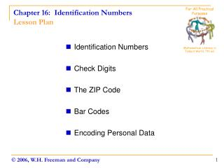 Chapter 16:  Identification Numbers Lesson Plan