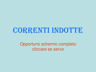 Correnti indotte